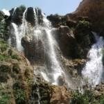 نمایی از آبشار شیخ علیخان